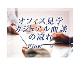 オフィス見学・カジュアル面談の流れ FLOW